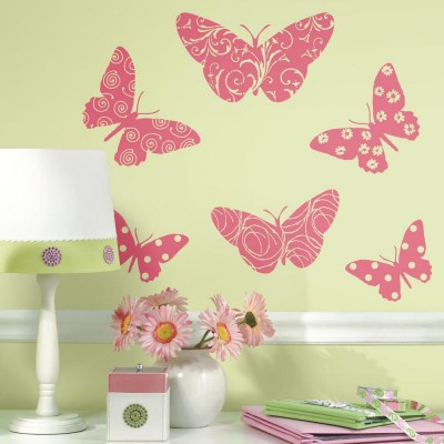 WD - Flocked Butterfly Giant